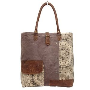 Handbags - 💥NEW💥 Floral Canvas and Leather Tote Bag